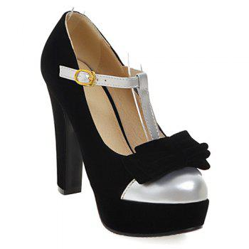 Trendy Bowknot and Hit Color Design Women's Pumps