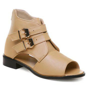 Stylish Buckles and Peep Toe Design Women's Sandals