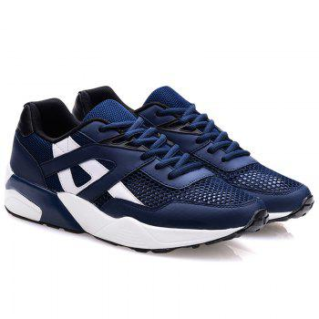 Stylish Mesh and Colour Block Design Men's Athletic Shoes - 43 43
