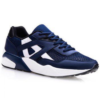 Stylish Mesh and Colour Block Design Men's Athletic Shoes