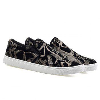 Trendy Elastic and Hit Color Design Men's Casual Shoes - SILVER/BLACK 44