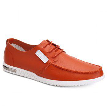 Fashionable Hit Color and Lacing Design Men's Casual Shoes