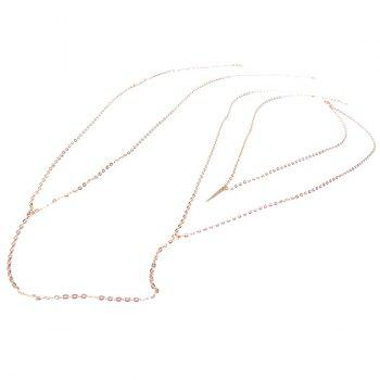 Elegant Golden Rivet Crossed Body Chain For Women - GOLDEN