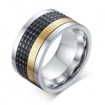 Punk Style Geometric Pattern Rotatable Ring For Men