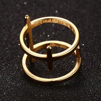 Double Layered Bar Ring - GOLDEN