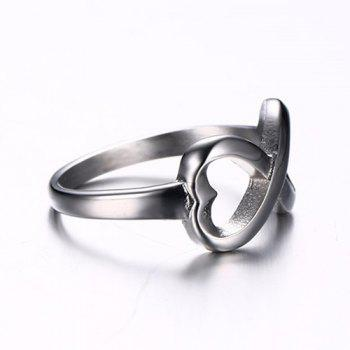 Heart Infinity Hollow Out Ring - SILVER