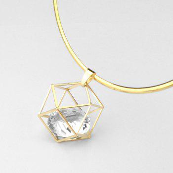 Hollow Out Geometric Artificial Crystal Torques - GOLDEN