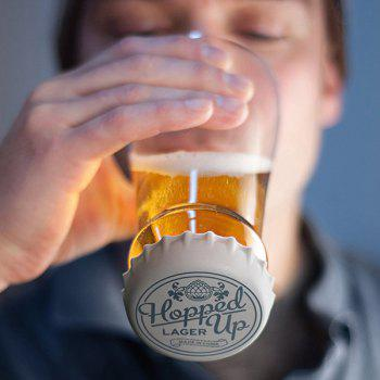 Hot Sale Hopped Up Inverted Silicone Lid Transparent Glass Beer Cup