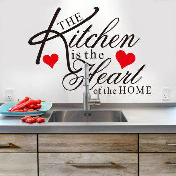 Stylish English Quotes Pattern Wall Sticker For Restaurant Kitchen Decoration