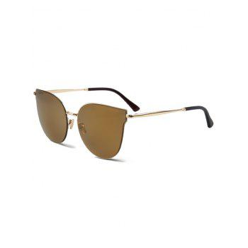 Chic Golden-Rim Cat Eye Sunglasses For Women