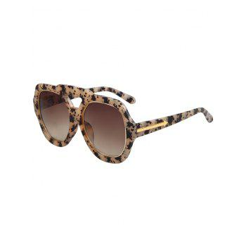 Chic Arrow Double Rim Black Fleck Sunglasses For Women