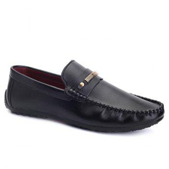 Stylish Stitching and Metal Design Men's Casual Shoes