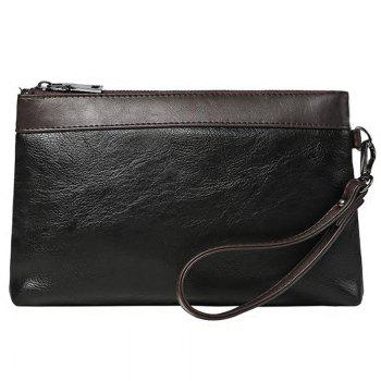 Casual cuir PU et Color Block design Men  's Pochette