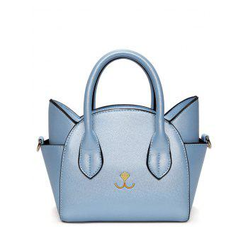 Charming Cat Shape and Solid Color Design Tote Bag For Women - BLUE BLUE