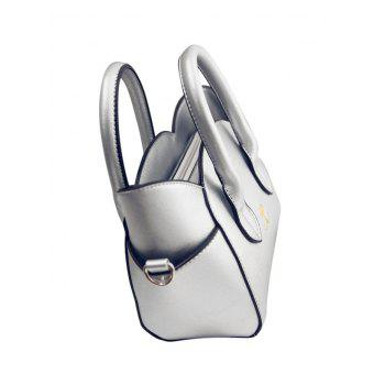 Charming Cat Shape and Solid Color Design Tote Bag For Women -  SILVER