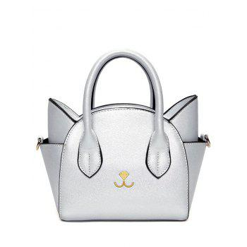 Charming Cat Shape and Solid Color Design Tote Bag For Women - SILVER SILVER