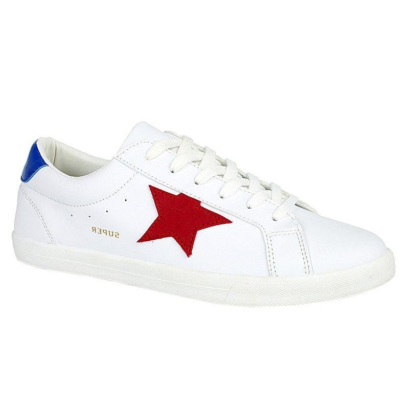 Stylish Star and White Design Men's Casual Shoes - BLUE/WHITE 39