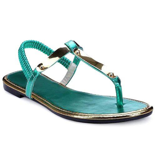 Casual Elastic Band and Flat Heel Design Women's Sandals