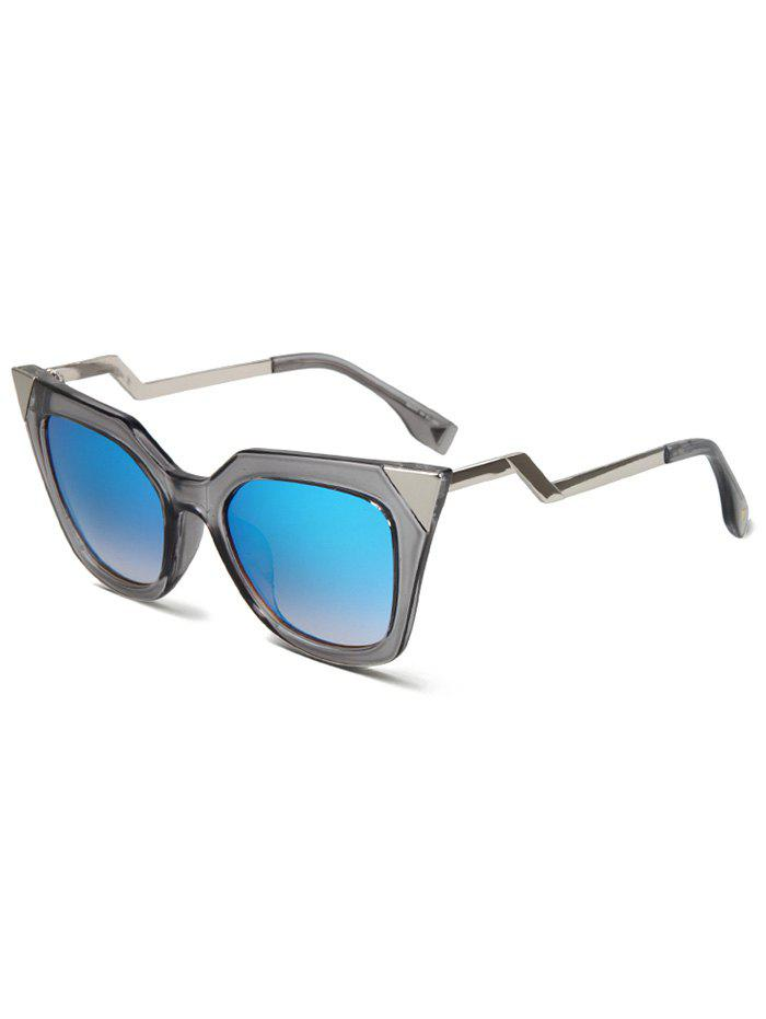 Chic High Pointed Zigzag Leg Cat Eye Sunglasses For Women - TRANSPARENT GRAY