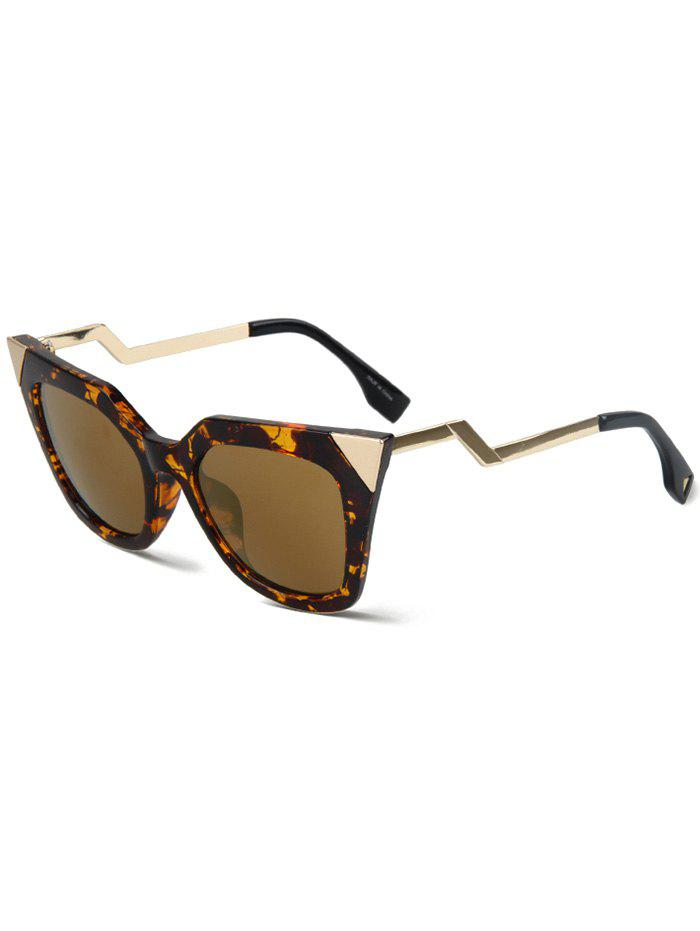 Chic High Pointed Amber Match Cat Eye Sunglasses For Women
