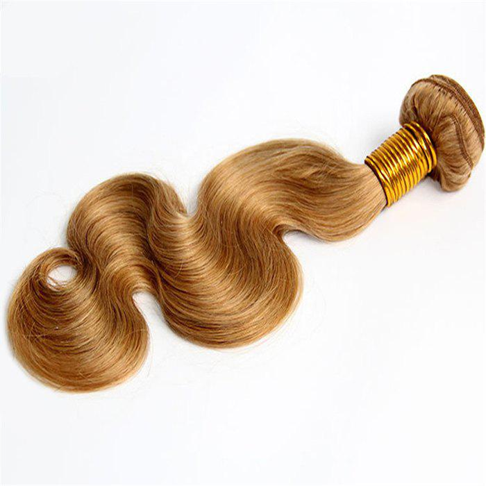 1 Pcs 7A Virgin Hair Women's Body Wave Brazil Human Hair Weave - GOLDEN BLONDE 12INCH
