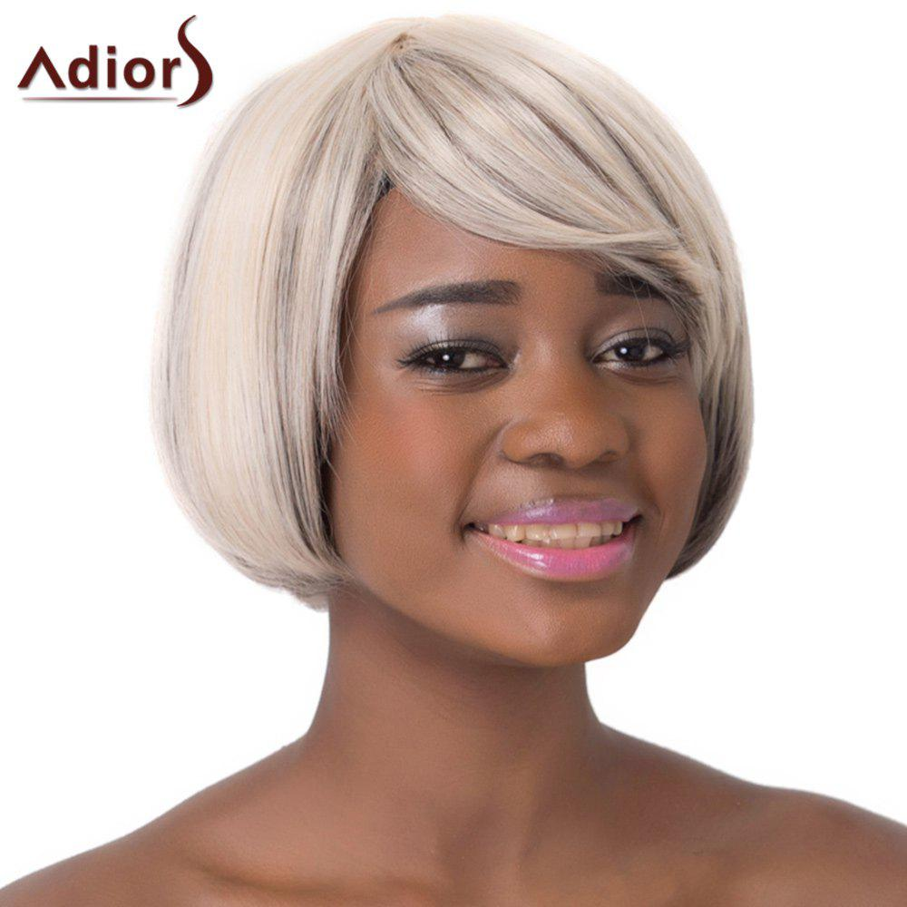 Stylish Mixed Color Side Bang Short Faddish Straight Synthetic Women's Adiors Wig - COLORMIX