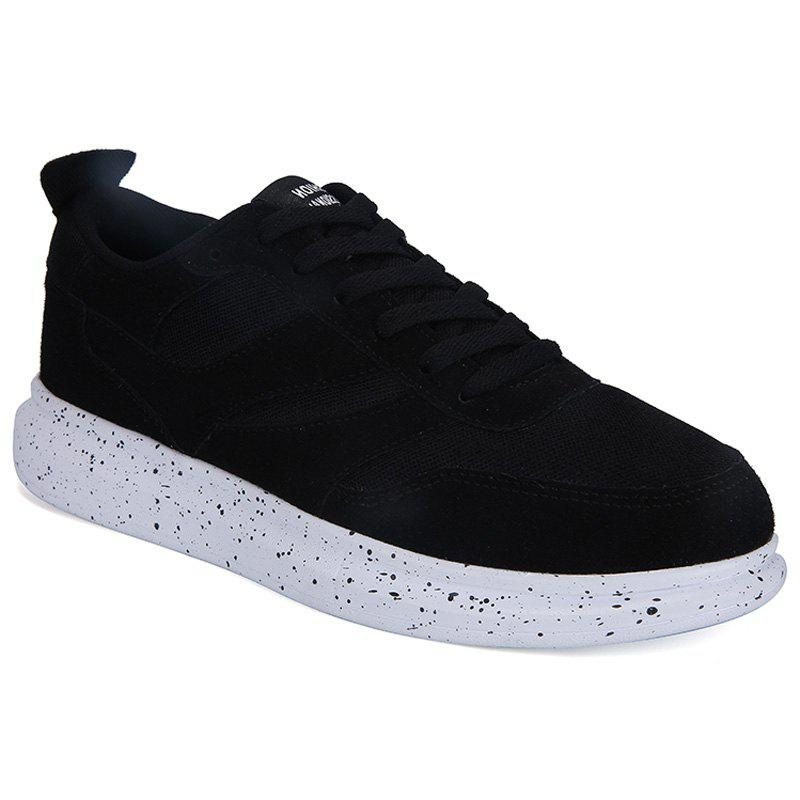 Sports Style Splicing and Lace-Up Design Men's Casual Shoes - BLACK 42