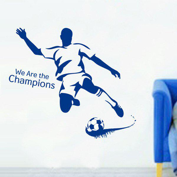 Stylish Football Boy Pattern Wall Sticker For Bedroom Livingroom Decoration - BLUE