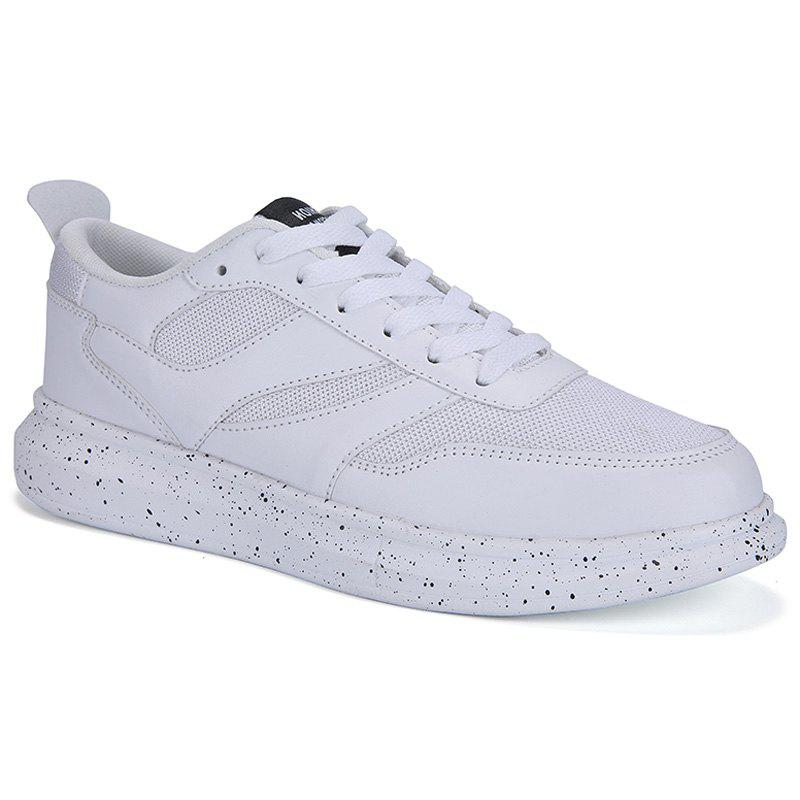 Sports Style Splicing and Whitep Design Men's Casual Shoes - WHITE 44