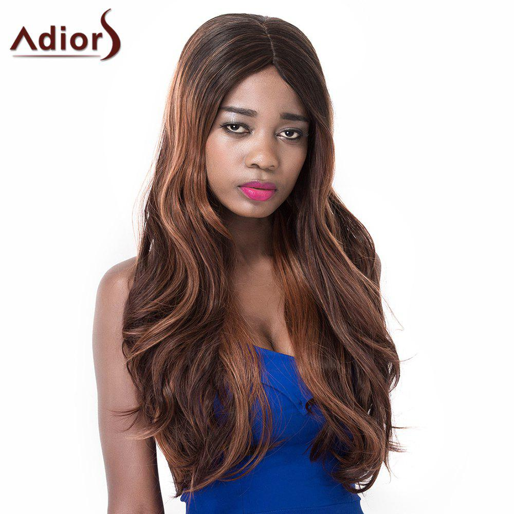 Attractive High Temperature Fiber Adiors Curly Long Wig For Women - OMBRE