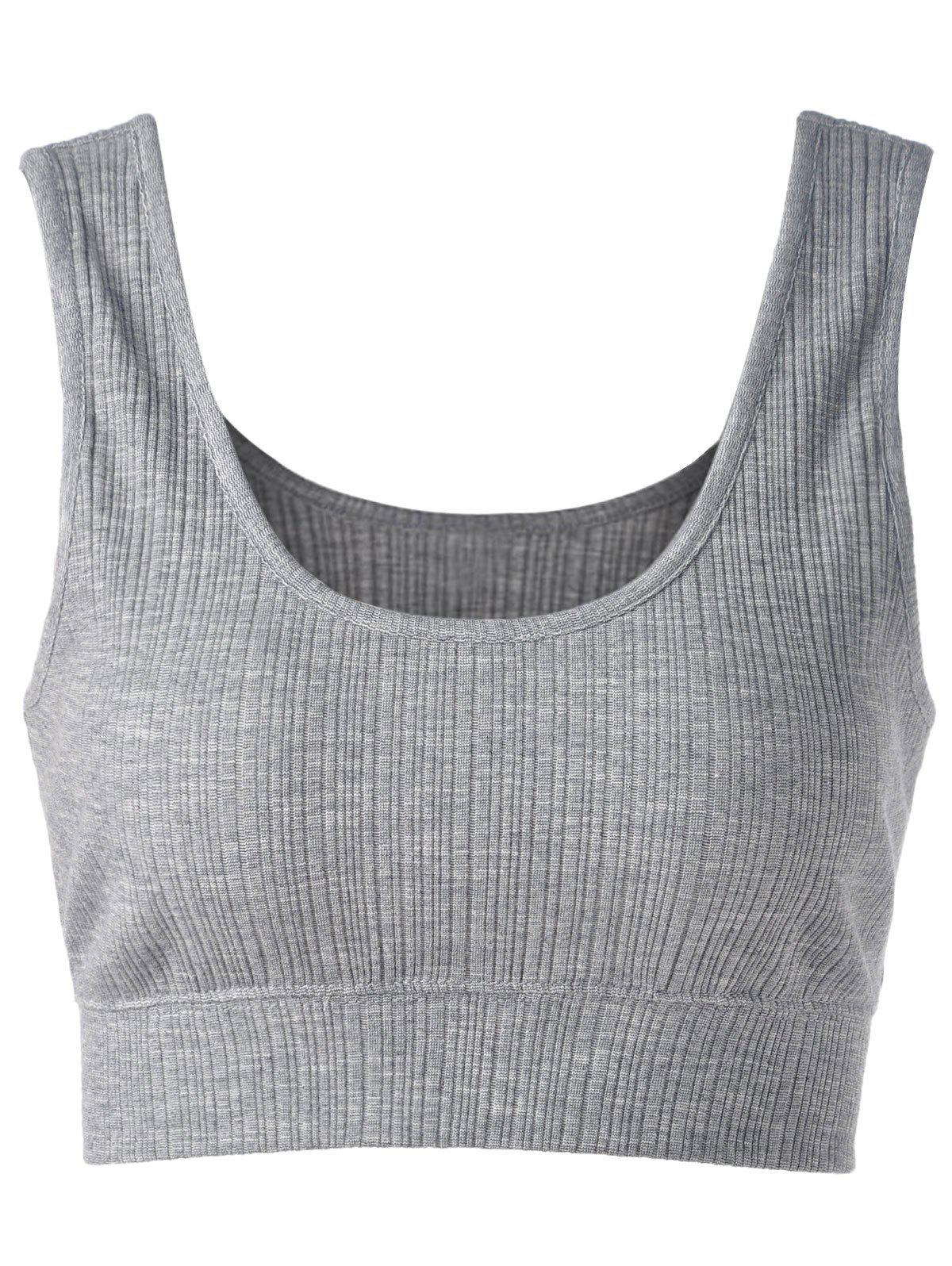 Contracted Brief Short Vest For Women - SMOKY GRAY S