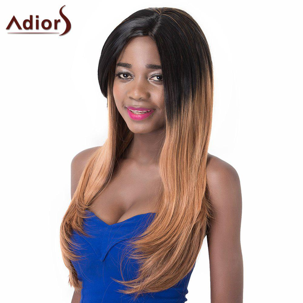 High Temperature Fiber Side Bang Adiors Sraight Long Wig For Women adiors women s high temperature fiber neat bang wig