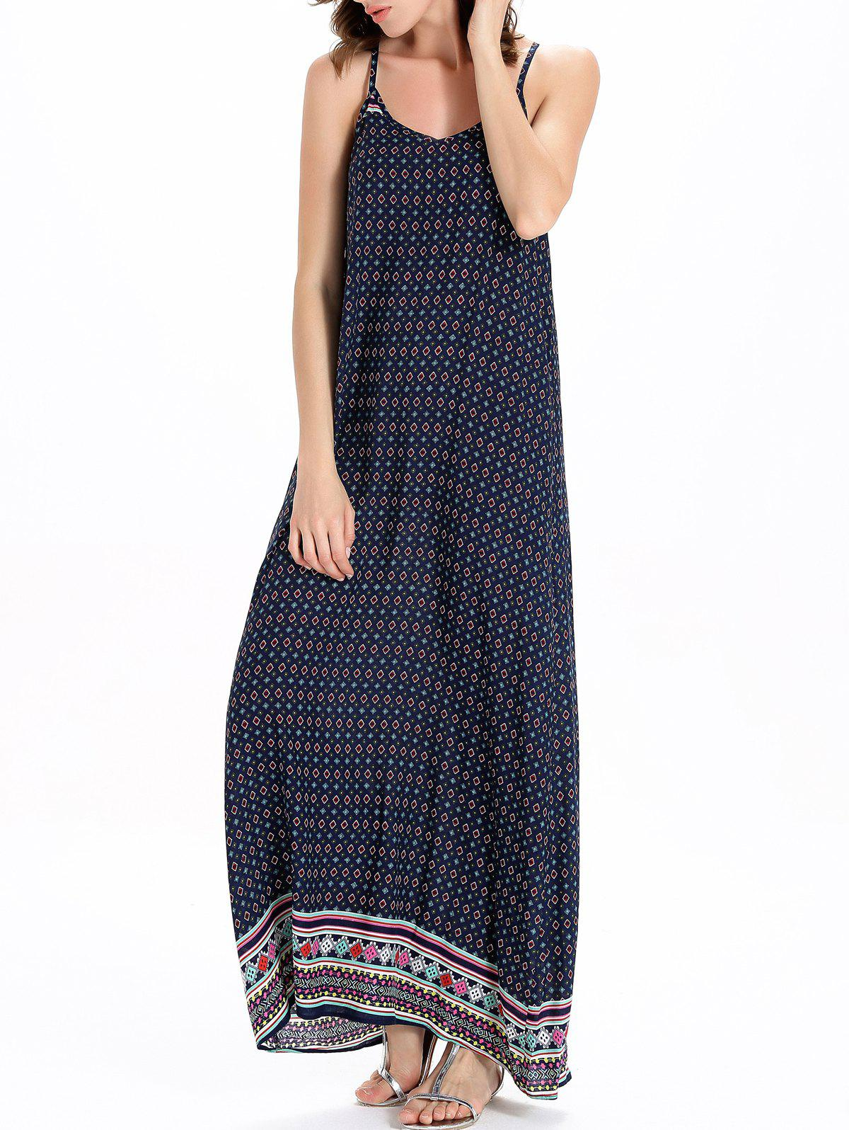 Bohemian Style Print Sleeveless Dress For Women - COLORMIX 2XL
