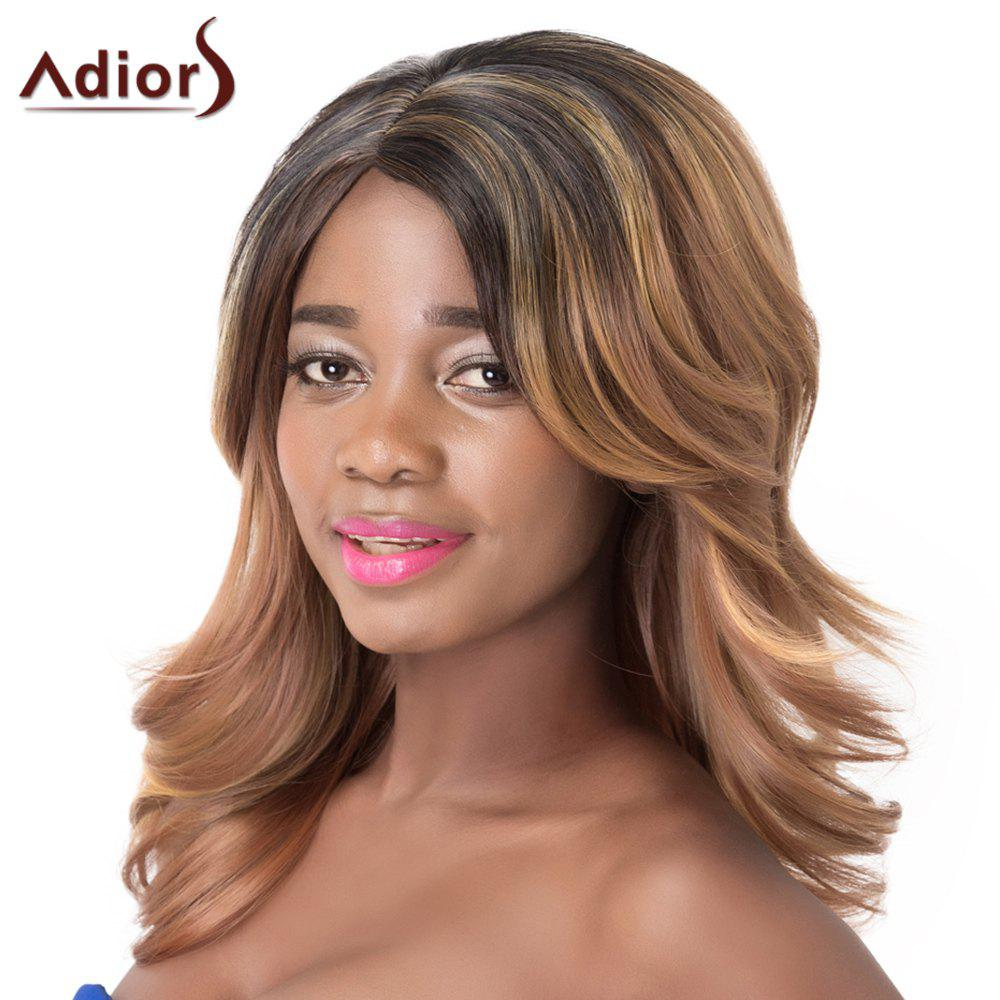 Wavy Synthetic Stunning Medium Multicolor Mixed Adiors Wig For Women -  COLORMIX