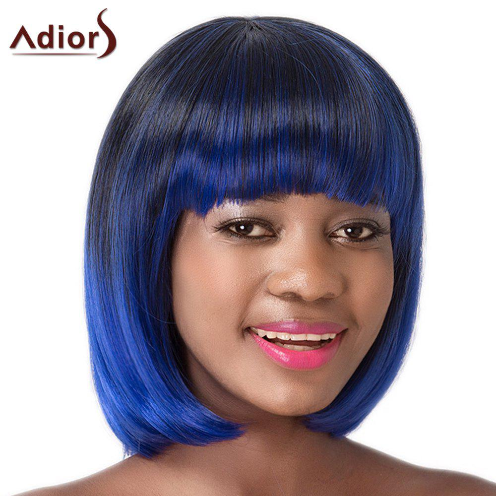 Neat Bang Women's High Temperature Fiber Adiors Sraight Bob Wig - OMBRE 2