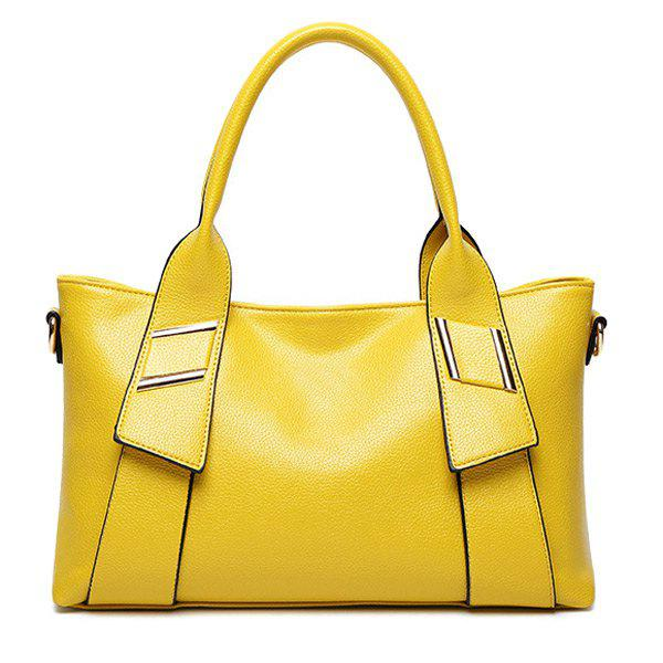 Stylish Solid Color and Letter Design Women's Tote Bag