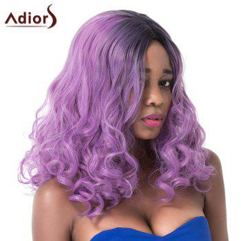 Long Fluffy Wavy Synthetic Purple Mixed Centre Parting Adiors Wig - COLORMIX