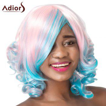Adiors Curly Side Bang High Temperature Fiber Wig For Women