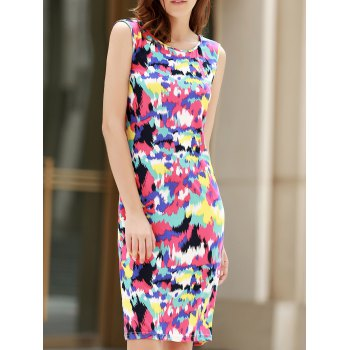 Sexy Sleeveless Scoop Neck Colorful Women's Dress