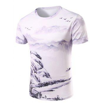 Men's 3D Ethnic Style Printed Round Neck Short Sleeve T-Shirt