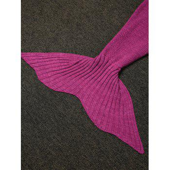 Stylish Sling Falbala Shape Mermaid Tail Design Blanket -  ROSE MADDER