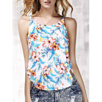 Trendy Furcal Floral Print Beach Tank Top For Women
