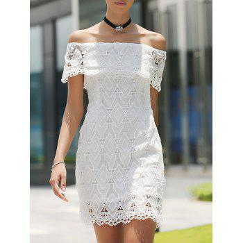 Off The Shoulder Short Lace Dress