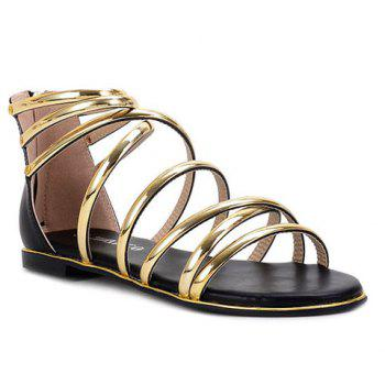 Leisure Hit Color and Cross Straps Design Women's Sandals