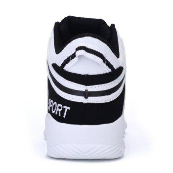 High Top Striped Sneakers - 44 44