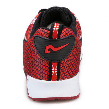 Trendy Color Block and Mesh Design Men's Athletic Shoes - 41 41
