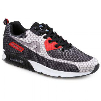 Buy Trendy Color Block Mesh Design Men's Athletic Shoes GRAY