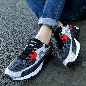 Trendy Color Block and Mesh Design Men's Athletic Shoes - 39 39