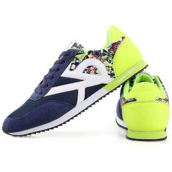 Stylish Splicing and Print Design Men's Athletic Shoes - 43 43