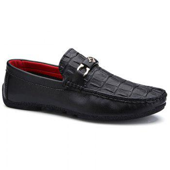 Stylish Embossing and Solid Color Design Men's Loafers
